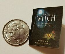 Miniature dollhouse Halloween witch spell book Barbie 1/12 Scale   Haunted NI