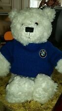 "15"" Gund genuine BMW exclusive signature plush teddy bear blue sweater plush #F6"