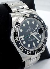 Rolex GMT-MASTER II 116710 LN Steel Black Ceramic Bezel *MINT CONDITION*