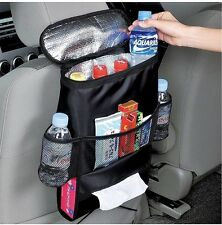 Backseat Car Organizer Travel Storage with Cooler/Warmer Bag & tissue Box Holder