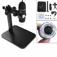 800X 8 LED 2MP USB2.0 Digital Microscope Endoscope Magnifier Camera+Lift Stand
