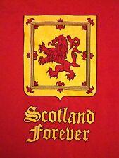 Vintage Scotland Forever Scots Scottish Souvenir Coats of Arms T Shirt L / XL