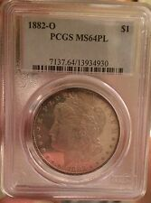 PCGS 1882 O Morgan Silver Dollar  Bu PCGS MS64 PL Proof Like Nicely Toned Ms 64