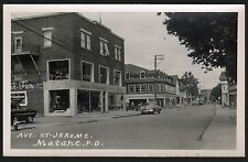 Postcard RPPC Matane PQ Canada Ave St Jerome/Old Cars