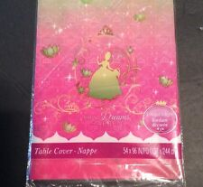Disney Princess Tiana Frog Making Dreams Lot Of 2 Plastic Tablecloth Sparkle