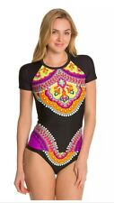 NWT Trina Turk Nuevo Sol  Medium M Rashguard Top & Sz 8 Hipster Bottom
