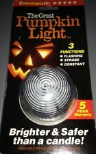 Halloween The Great Pumpkin 3 Function Light! Flashing Strobe or Constant LIght