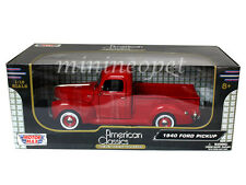 MOTORMAX 73170 AMERICAN CLASSICS 1940 40 FORD PICK UP TRUCK 1/18 DIECAST RED