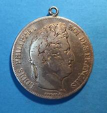 5 FRANCS LOUIS PHILIPPE 1832 T NANTES en ARGENT - PENDENTIF -