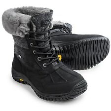 UGG Australia ADIRONDACK II Grey Black Waterproof Boots US 9.5 UK 8 EU 40.5 NEW!