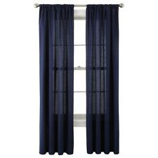 """JCP Holden Grommet Top Cotton Curtain Panel 50""""x94"""" Bold Navy A142"""