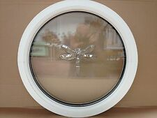 uPVC  round window circular double glazed replacement Dragon Fly