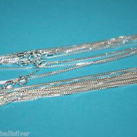 """30 pieces 16"""" 18"""" 20"""" Sterling Silver 925 Italian BOX 015 CHAIN NECKLACES Lot"""