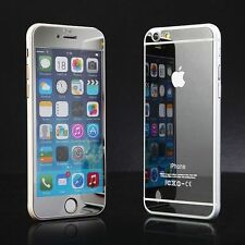 Front + Back Mirror Effect Tempered Glass Case Screen Protector Film for iPhone