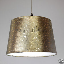 "DARK GOLD FOILE EFFECT 12"" EMPIRE DRUM  LAMP SHADE FOR TABLE LAMP OR CEILING"
