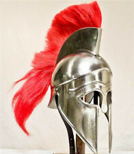 Greek Corinthian Helmet with crest reenactment armour + FREE HELMET STAND