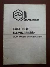 CATALOGO GRUPPI REVISONE ORIGINALI PIAGGIO RAPIDCAMBIO