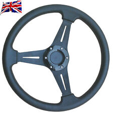 UK Universal Car Steering Wheel PU Leather Racing