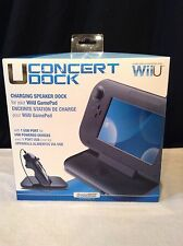 New SEALED - Wii U CONCERT DOCK (Nice) usb Charging Speaker Dock for Wii Gamepad