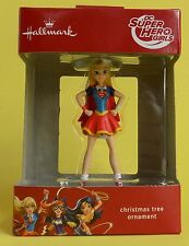 NEW HALLMARK DC SUPER HERO GIRLS SUPERGIRL GIRL ACTION FIGURE CHRISTMAS ORNAMENT
