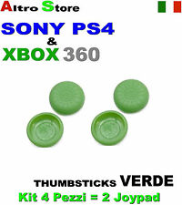4 PEZZI ANALOGICO CONTROLLER DUALSHOCK THUMBSTICKS GRIPS VERDE PS4 SONY XBOX360