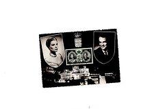 CARTE POSTALE avec timbre 1er jour mariage Grace Kelly et Prince Rainier MONACO