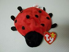 TY Beanie Baby - Retired LUCKY Ladybug  9 DOTS TAG ERROR & PVC Pellets