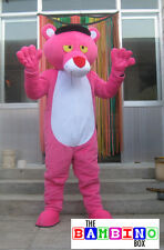 Panther Mascot Costume / Fancy Dress Halloween Pink Cat Spy Outfit