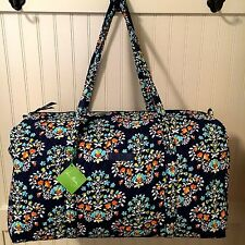 Vera Bradley LARGE DUFFEL CHANDELIER FLORAL Bag Weekender Travel Luggage NWT