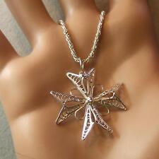 SILVER second hand malta cross pendant & chain