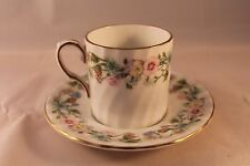 AYNSLEY WILD TUDOR COFFEE CAN COFFEE CUP DEMI TASSE & SAUCER RETRO VINTAGE