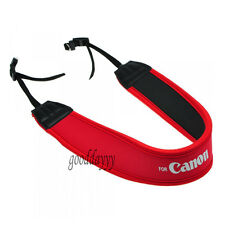 Red Neoprene Skidproof Shoulder Neck Sling Strap For SLR/DSLR Camera Canon New