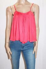FINDERS KEEPERS Designer Red Swing Crop Cami Top Size 8-XS  #SJ08