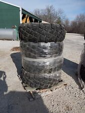 4 WHEELS TIRES SET TON 5 TON WHEELS Michelin XML 395/85/r20 Combat 10 bud