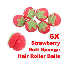 6Pcs Magical Strawberry Sponge Ball for DIY Hair Curling Curler Rollers Balls