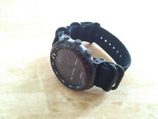 For Suunto Core Black Watch Band Nylon Zulu Strap 5-Ring Lugs Adapters PVD kit 1