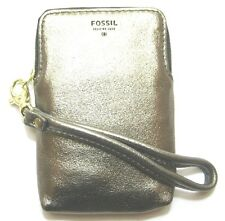Fossil Gift MET CARRYALL Metallic Wristlet Leather Wallet New NWT