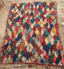 Vintage moroccan boucherouite rag rug - 190 x 128cm