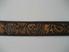 ANIMALS in the JUNGLE    LEATHER SCULPTURED BELT (PB25)