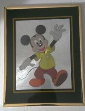 Vintage Mickey Mouse Metallic Foiled Framed Matted Print Poster- Disney Company