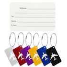 Aluminium Travel Luggage Baggage Tag Suitcase Identity Address Name Labels New