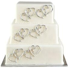 Heart Cake Decor for Party & Wedding  6 ct from Wilton #1024 - NEW