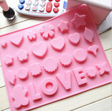 Silicone Love Heart Star Chocolate Cake Cookie Mould Ice Cube Jelly Valentine