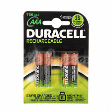 4 DURACELL AAA 750mAh STANDARD RECHARGEABLE BATTERIES CAMERA ACCU LR6 HR6 DC1500