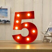 LED Carnevale Compleanno Festa Anniversario Grande 33 Cm Rosso Metallo numero 4