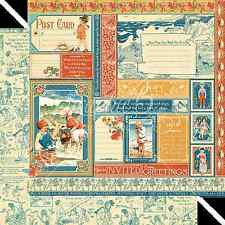 Graphic45 JULY COLLECTIVE 12x12 Dbl-Sided Scrapbook (2) Papers VINTAGE
