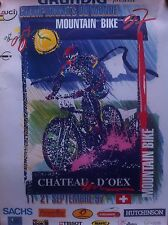 Official poster World MTB championships Chateau d Oex Suisse 1997