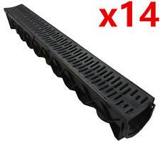 14 X de cerebros de canal profundo drenaje plástico PVC Agua De Lluvia Storm ducha wetroom 1m