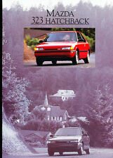1990 Mazda 323 Hatchback Original Canada Car Sales Brochure Catalog