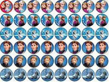 Disney Frozen Comestibles rice/wafer papel cupcake/fairy Cake Toppers 48x3cm